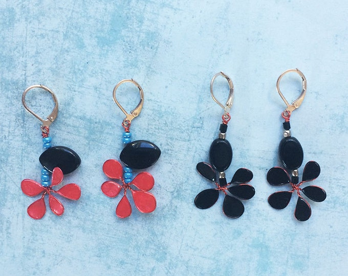 Dangle and Drop Earrings - set earrings - floral earrings - pending earrings - flower earrings -gif for her -hippie earrings -spring jewelry