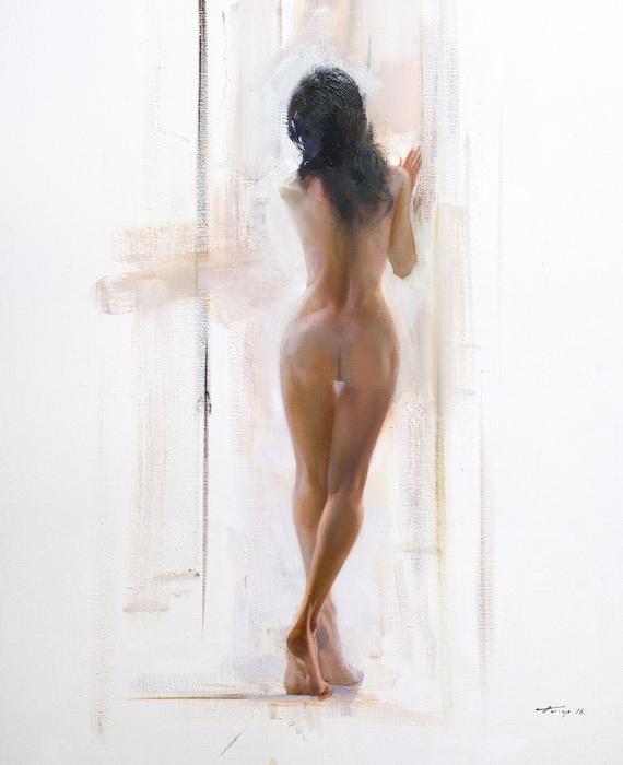 Nude woman figure