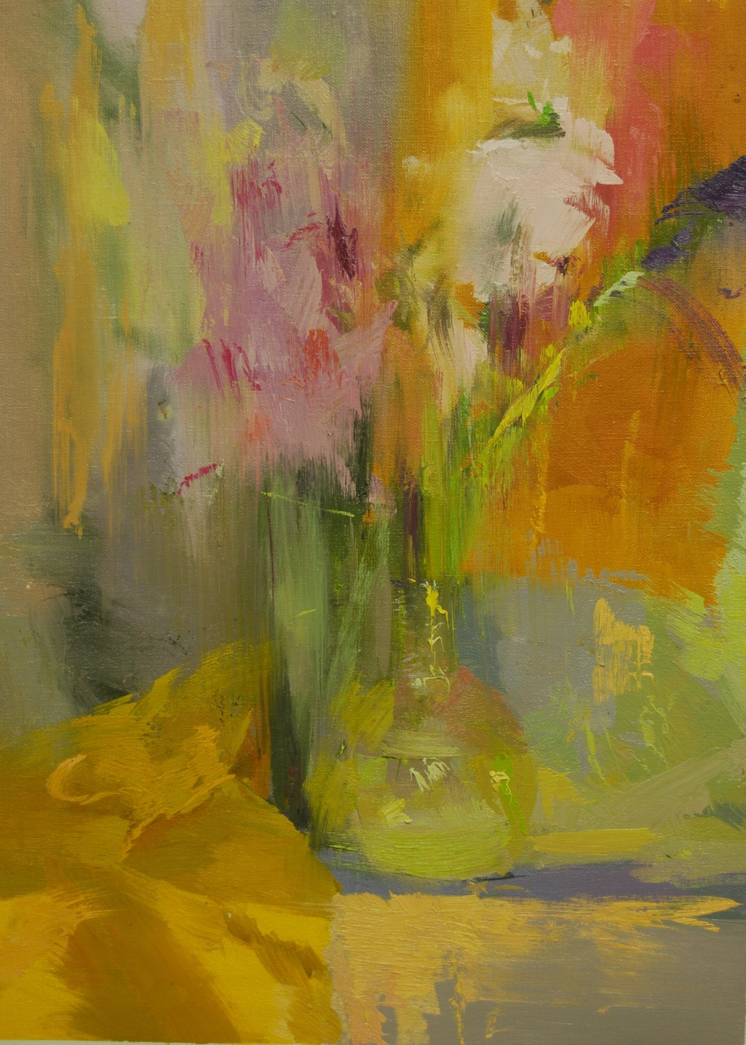 Colorful Abstract Painting Flowers Abstract Art Contemporary