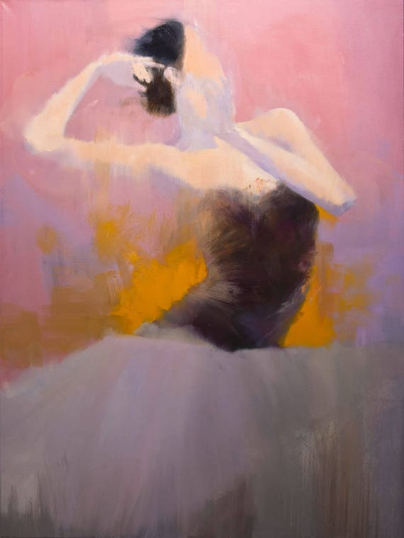 Extra Large Scale Painting Contemporary Art Figurative Painting Ballet Dancer Artwork By Yuri Pysar