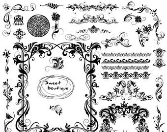 Wedding Digital Frames Borders Clip Art Frame Clipart Victorian 1004