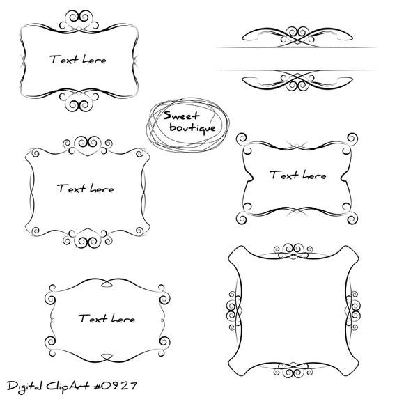Frame Clipart, Digital Borders, Wedding Clip Art, Frames clipart ...