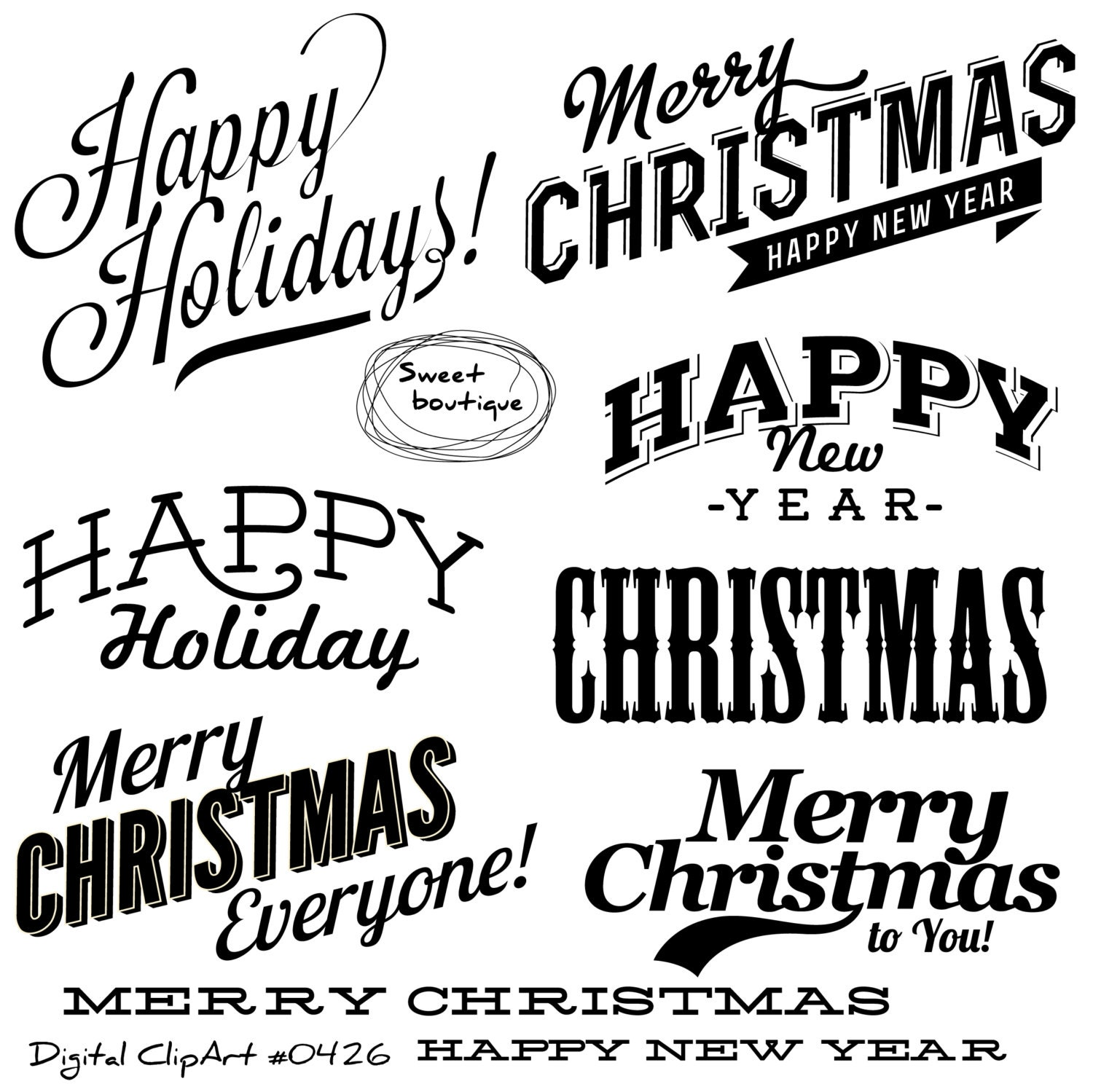 christmas clipart christmas quotes christmas text christmas overlays christmas clip art merry christmas clipart new year clipart 0426 - Christmas Overlays