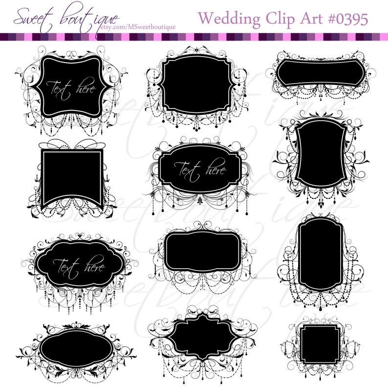 e30e004e303 Chandelier clipart Wedding Clip Art Frames BLACK Chandelier