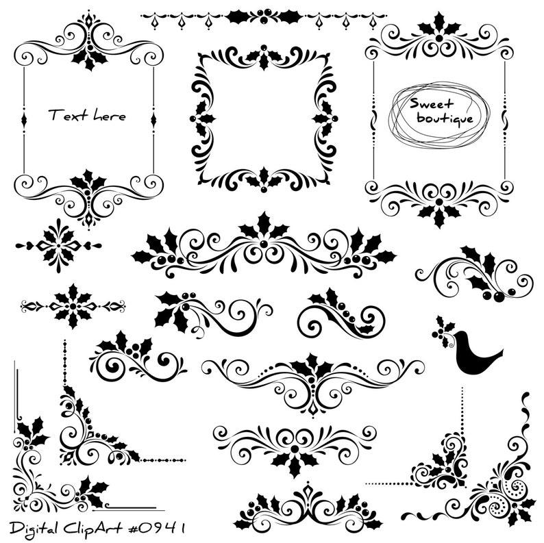 Christmas Digital Clip Arts Frame Clipart Christmas Clipart