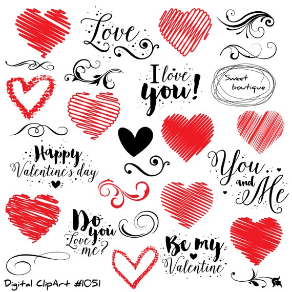 Love Clip Art Love Quote Valentines Day Clipart Quotes Etsy Beauteous Love On Valentines Day Quotes