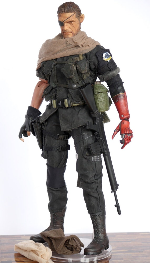 Solid SNAKE METAL GEAR 1//6 testa head sculpt Action Personaggio Hot Toys carattere ps2