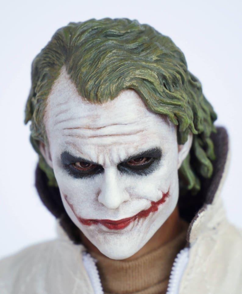 2e006985f4 The Dark Knight Heath Ledger Joker 1 6 scale custom painted