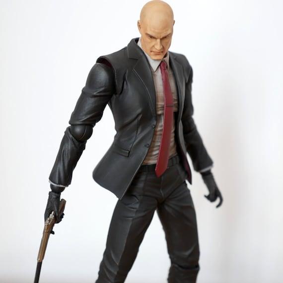 Hitman Agent 47 Play Arts Kai Custom Action Figure With Etsy