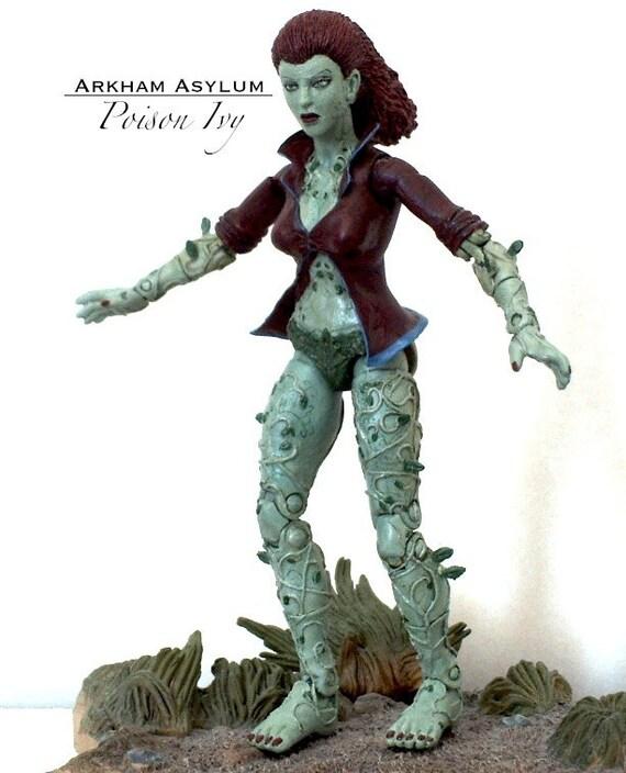 poison ivy batman arkham knight asylum 6 custom action etsy