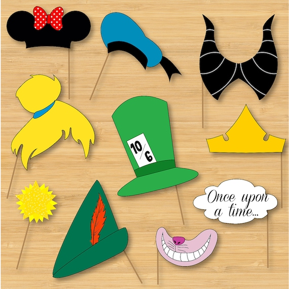 Disney Photo Booth Props Mickey Mouse Disney Princess Etsy