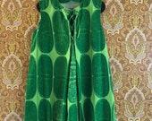 Vintage Marimekko Printex tunic dress 1960s Finland Scandinavia Fits Small - Medium Green A-line