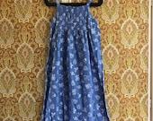 Vintage Marimekko Dress 1970 39 s Size 34, 6, x small - Small-Medium Finland Baby Blue Floral Sun Dress