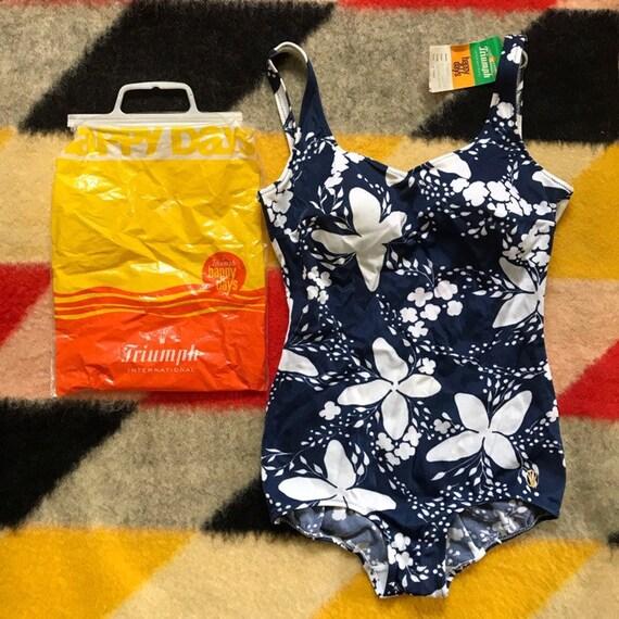 Vintage Deadstock Triumph Floral Swimsuit / Large