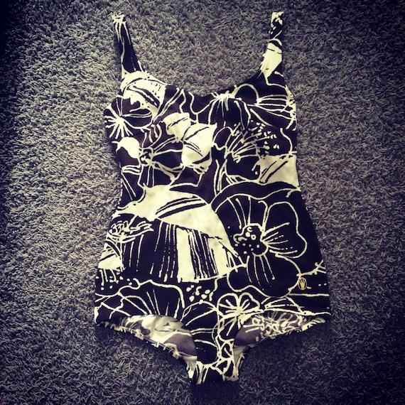 Vintage Triumph Floral Swimsuit / Medium - Large /