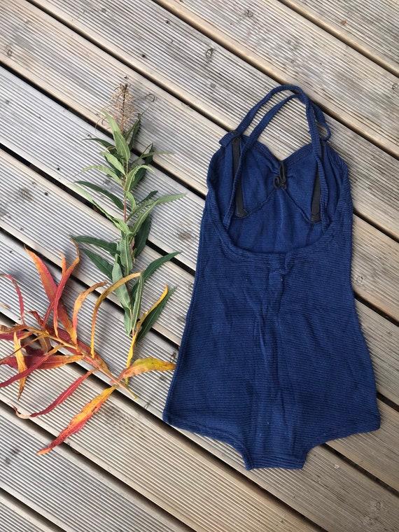 Vintage cotton Swimsuit Sun dress / fits Medium -