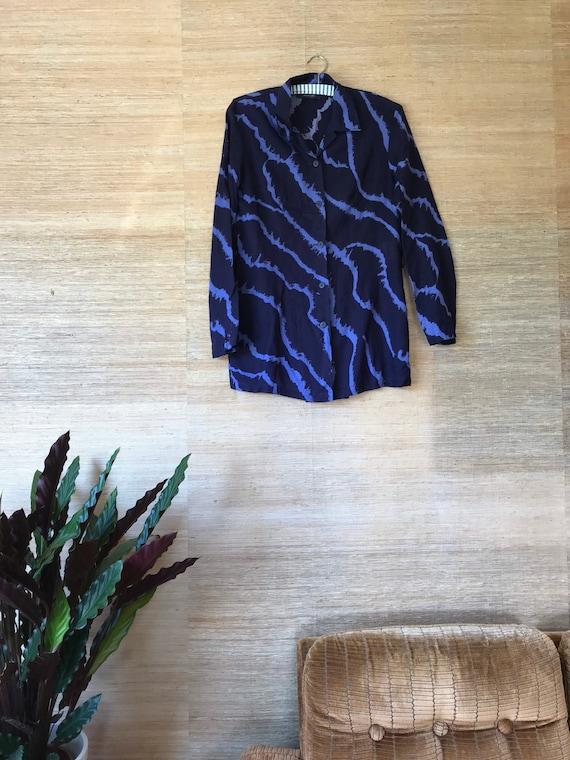 Vintage Marimekko Shirt / Medium / 1990 Finland /V