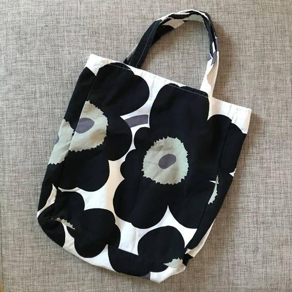Vintage Marimekko Cotton Tote Bag / 1990 Finland /