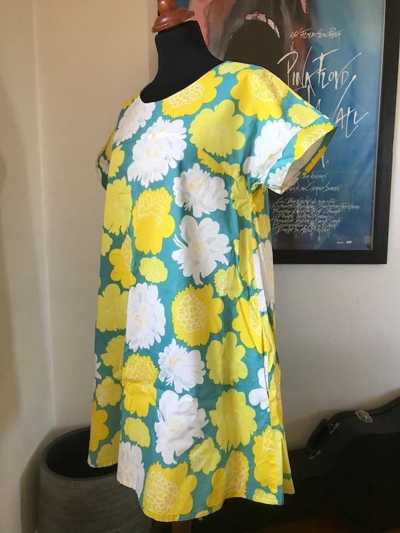 Marimekko Tunic Dress / Yellow Flowers / Size 38 b