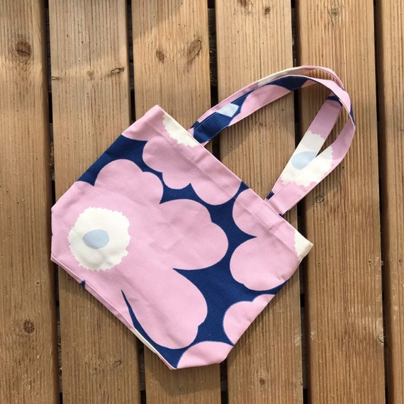 Smaller Vintage Marimekko Cotton Tote Bag / 1990 F