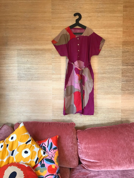 Vintage Marimekko Dress Kaftan Dress / Medium / Bo