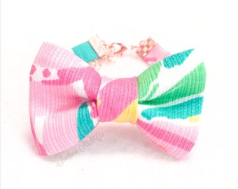 """Bow Bracelet with Lilly Pulitzer """"Multi All Nighter"""""""