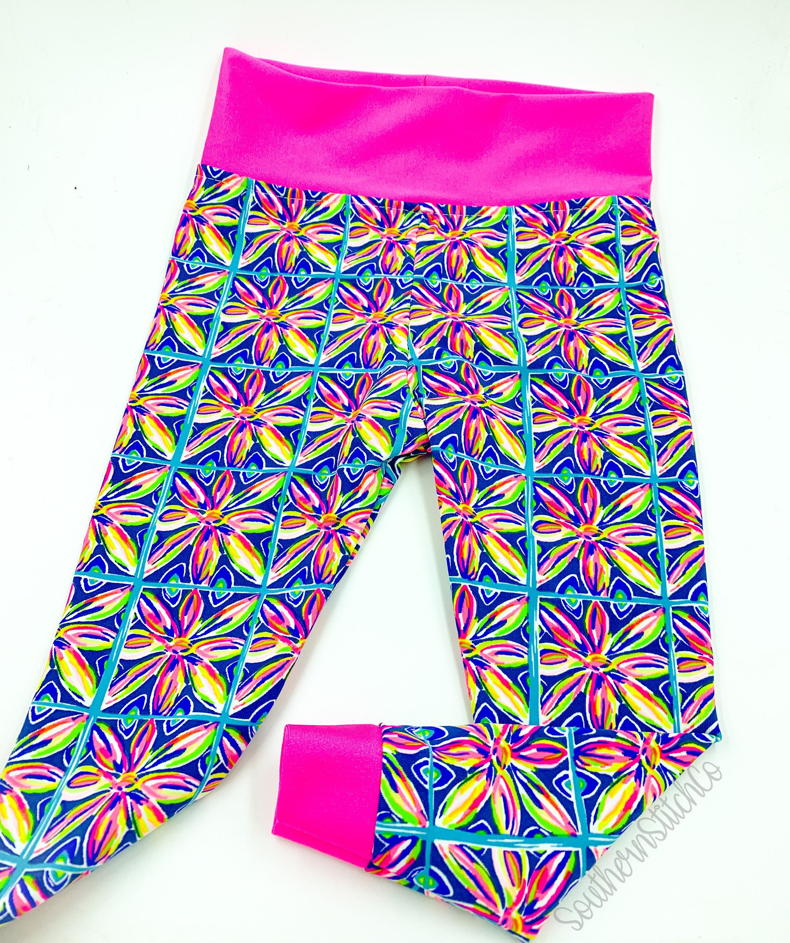 Limited Baby Leggings In Lilly Pulitzer Luxeletic Fabric