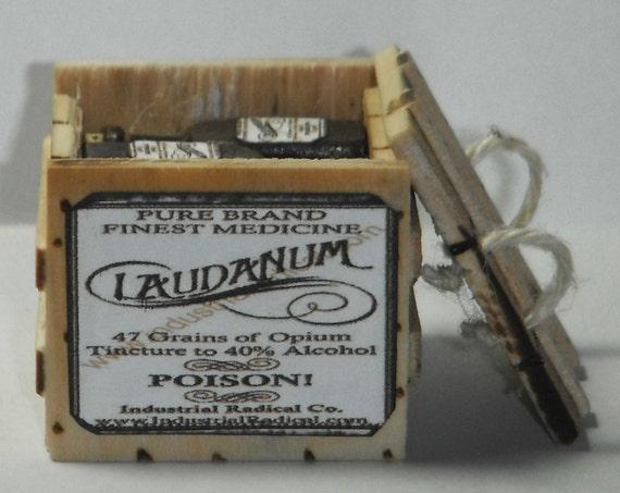 Dollhouse miniature handcrafted 1//12th scale Laudanum tray medical asylum