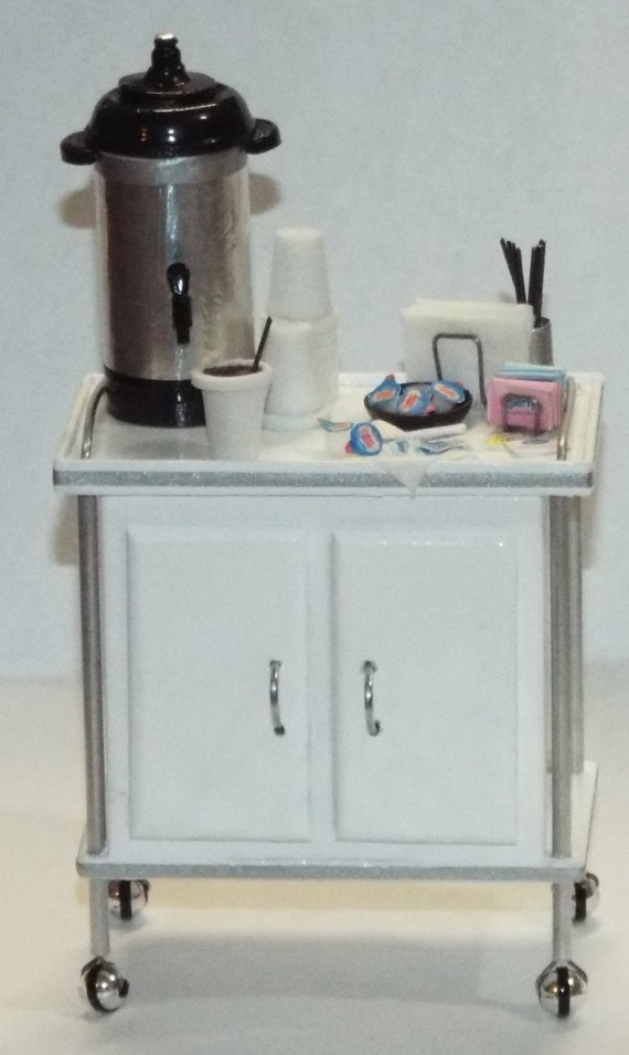 Dollhouse miniature hospital Medical White Mayo stand table 1920s 1//12th scale