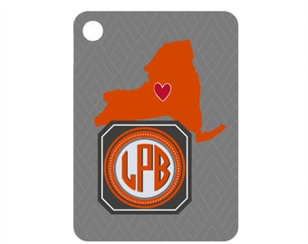 Monogrammed Gifts /& Keychain Tennessee Keychain Bridesmaid Gifts Luggage Tag Home Keychain Tennessee Orange Bag Tag Home State Gifts