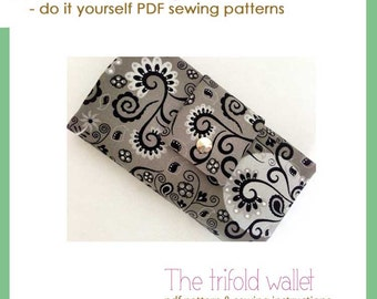 The trifold wallet - PDF sewing pattern