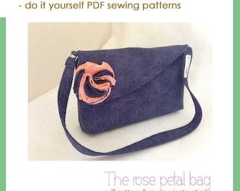 The rose petal bag - PDF sewing pattern