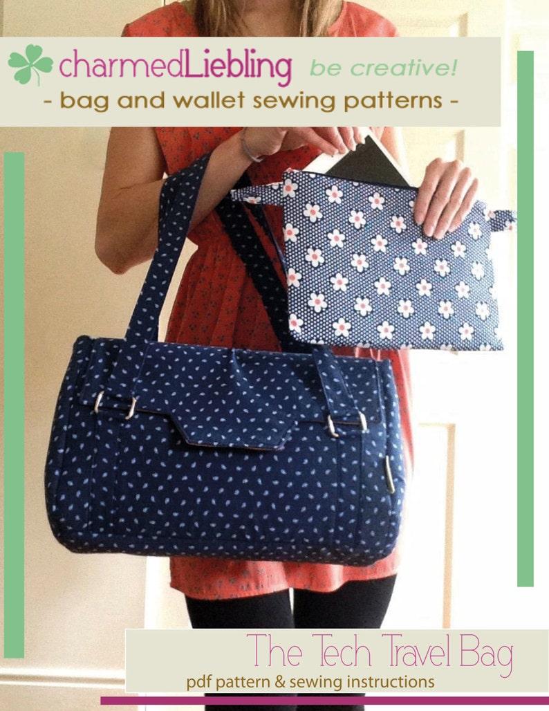 Tech Travel Bag  PDF sewing pattern image 0