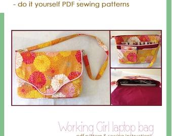 Working Girl laptop bag - PDF sewing pattern
