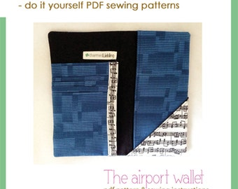 The airport wallet - PDF sewing pattern