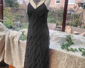 Black dress special occasion prom party wedding bridesmaid clubbing halloween uk size10 usa size 6