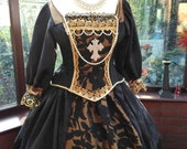 18th century Custom made gown made to your own measurements with hooped petticote queen fairy princess stage party banquet