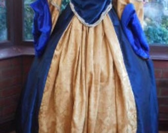 Custom made to measure Tudor Gown includes headress & hooped underskirt princess stage party gown medieval queen made to your own sizing