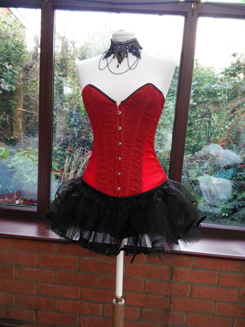 99d4cabedf5 Red And Black Lace Corset Dress - AByte Computer Solutions