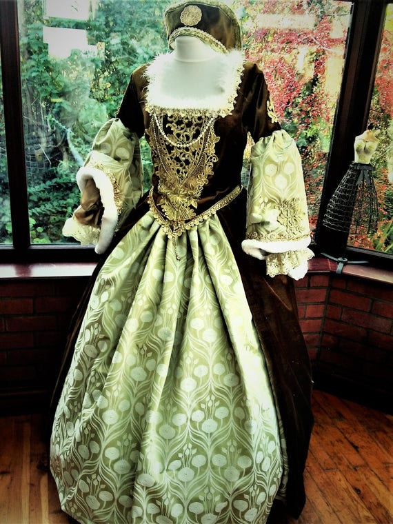 Handmade Tudor gown wedding princess stage party gown medieval | Etsy