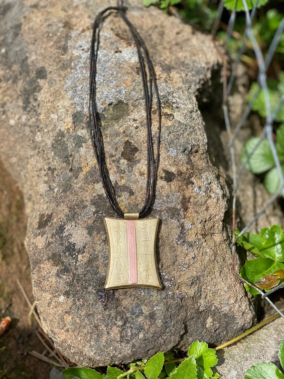 Vintage-Brass and Copper African Pendant-African N