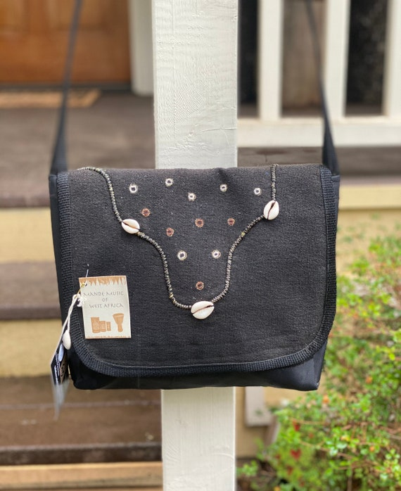 WEST AFRICAN INDIGO Mud Cloth Leather Tote  Bag Purse Repurposed Antique Textiles