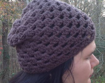 Pattern PDF File, Granny Mesh Crochet Slouchy Hat Pattern - Mesh Crochet Hat Patterns - Crochet Hat Pattern - How To Make A Mesh Crochet Hat