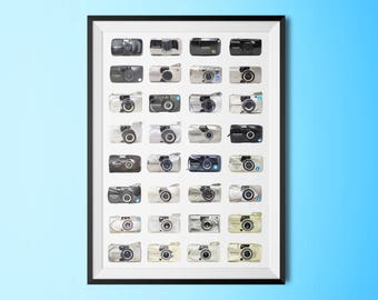 Olympus µ[mju:]-II 2 Stylus Epic History Poster Art Print Collage Typological Chart 12x18 24x36 Inches