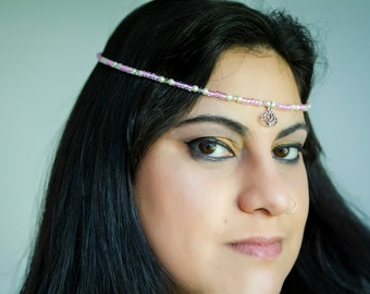 Custom for Celeste in gold tones like this Silver and Black Lotus headpiece