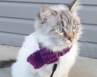 Pet Scarf - Size Small - LOTS of Color Options! (Wine, Pink Mustard, Teal, Blue, Purple, Black, Gray, Cream, Etc.)