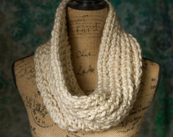 Knit Super Thick Infinity Scarf/Cowl - LOTS of Color Options! (Wine, Cream, Black, Navy, Purple, Teal, Black, Charcoal, and MORE!)