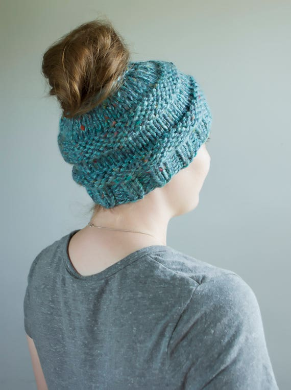 Messy Chunky Beach Waves Easy Tutorial: Chunky Messy Bun/Ponytail Hat LOTS Of Color Options Wine