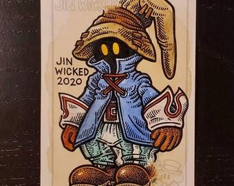 """ACEO Patreon Original Custom Sketch Card """"Fantasy Wizard"""""""