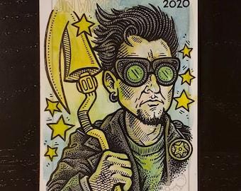 "ACEO Patreon Original Custom Sketch Card ""Starman"""